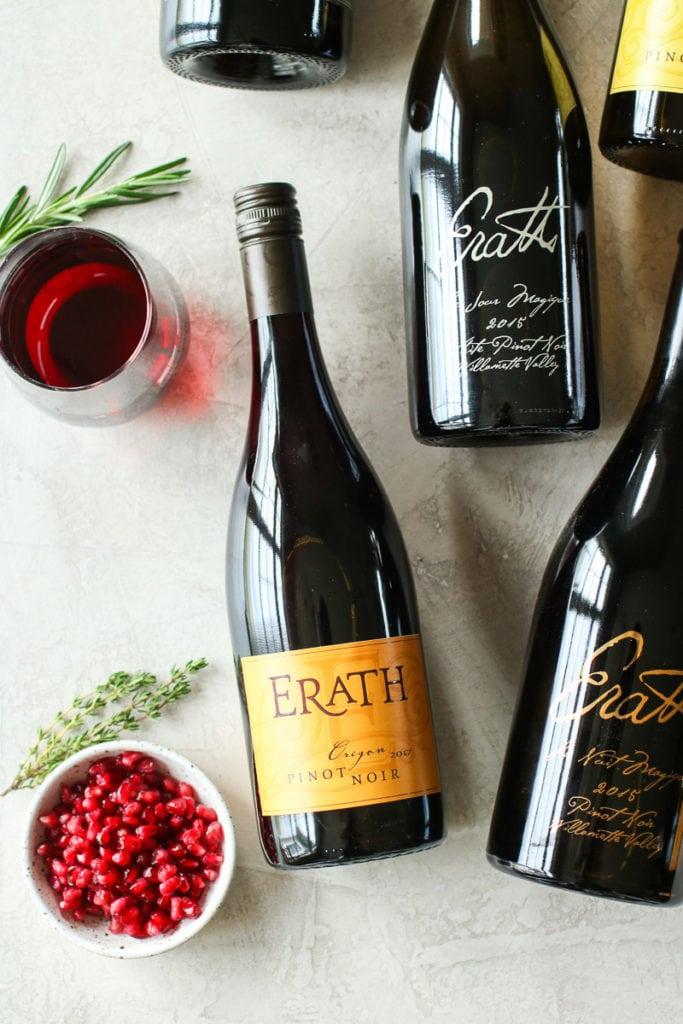 Bottle of Erath Wine