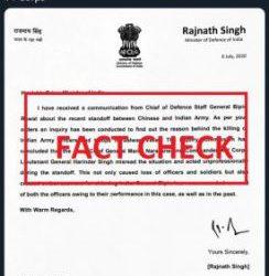 Fact Check: Rajnath Singh's Letter to PM Modi is FAKE