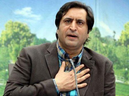 Sajad Lone greets people on Eid-ul-Fitr