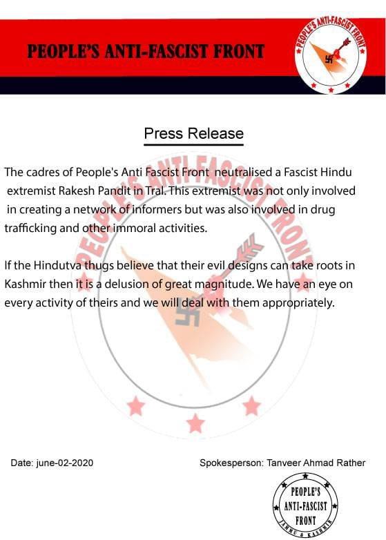 Kashmir Terror Archives | BJP Leader Rakesh Pandit shot dead by terrorists in Tral on 2 June 2021