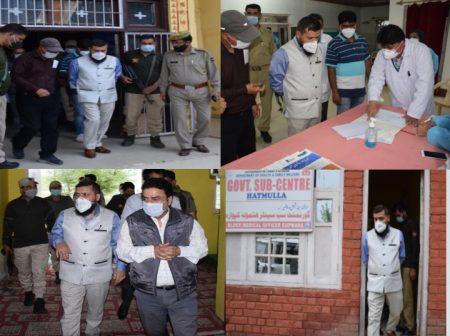 DC Kupwara inspects ongoing vaccination process in various health centres of Kupwara block
