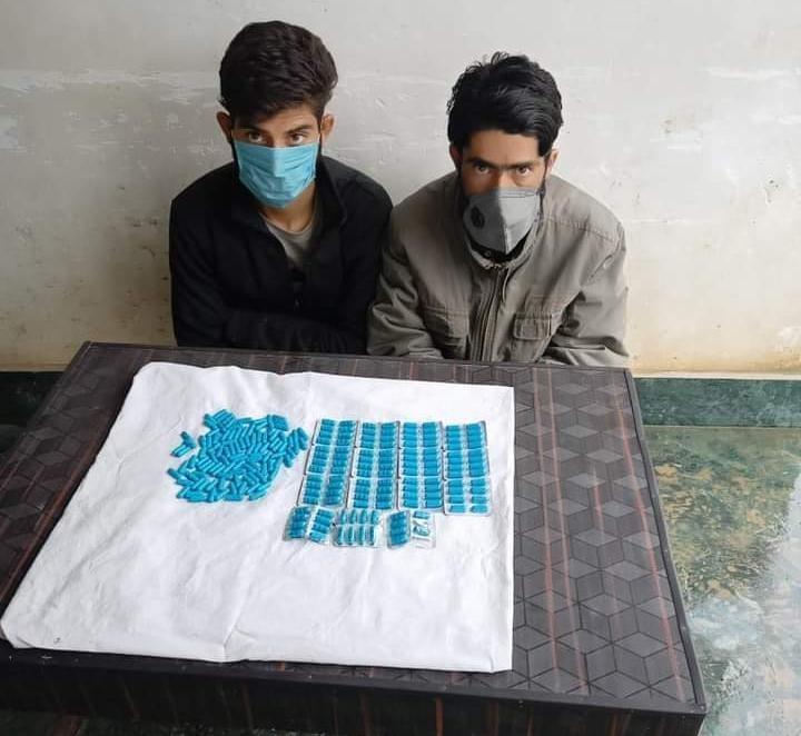 Bandipora police arrested 02 drug peddlers in Aloosa.Contraband substance recovered, FIR registered.