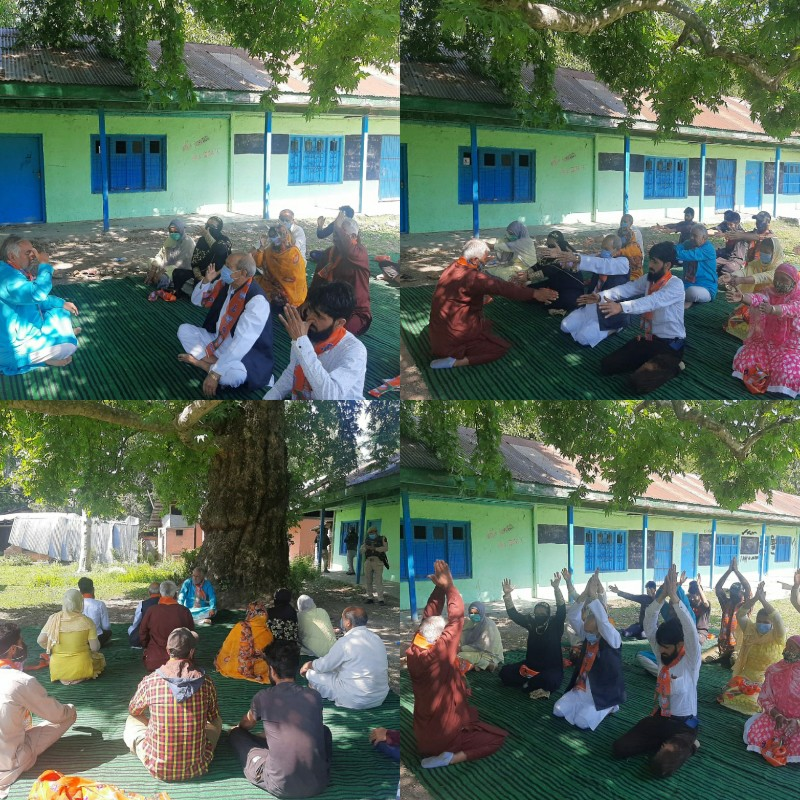 BJP Leaders Celebrated 7th International Yoga Day at Rafiabad