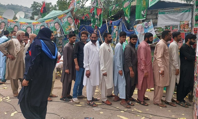 Voting time Ends in AJK elections after 2 PTI workers shot dead in Clash