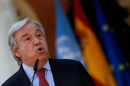 World hunger worsened by climate change, conflict: UN chief