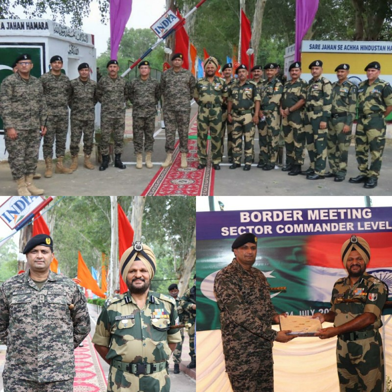 BSF-Pakistan ranger sector commander level meeting held at Suchetgarh Border