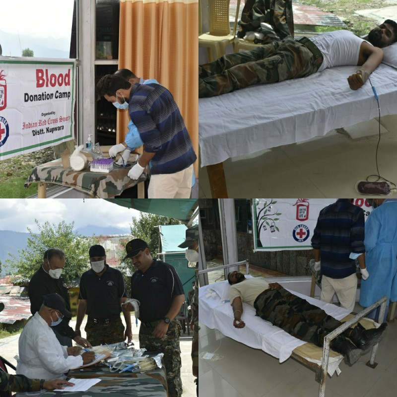 Conduct of Blood Donation Camp at Gujjarpatti by 28RR Lolab