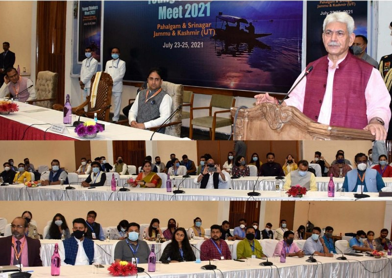 Lieutenant Governor, Manoj Sinha Attended the Valedictory session at the 3-day long Young Thinkers Meet-2021 at SKICC