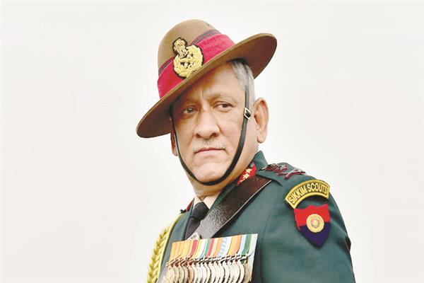 Chief of Defence Staff Bipin Rawat visits areas along LoC in Dras sector