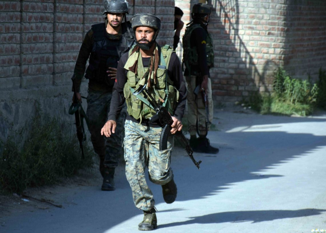 Gunfight break out Between Militants and Security forces in Aharbal area of South Kashmir's Kulgam