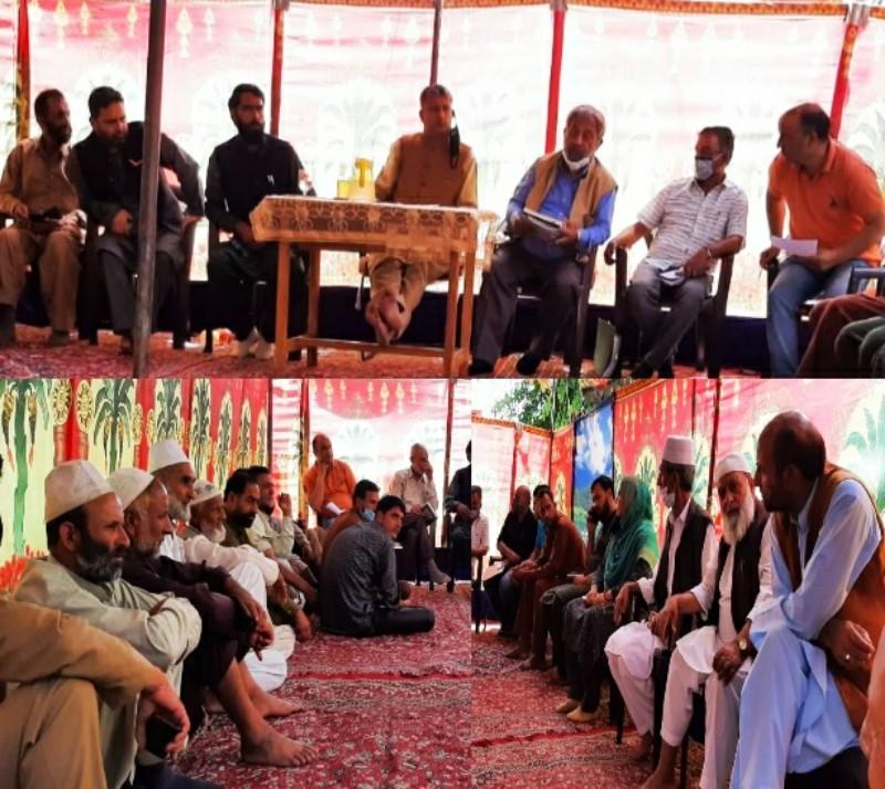 VC DDC Kupwara reviews schemes of Jal Shakti department