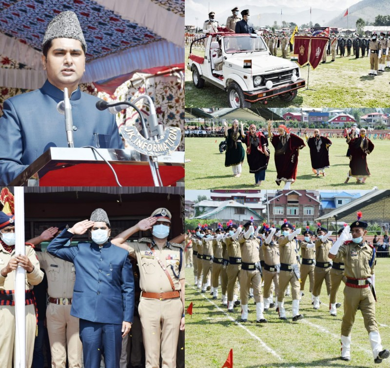 Full Dress Rehearsal for Independence Day Parade-2021 held in Bandipora