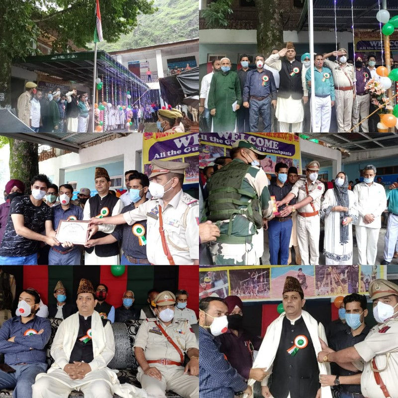 75th Independence Day celebrated with patriotic fervour at GBHSS Mandi