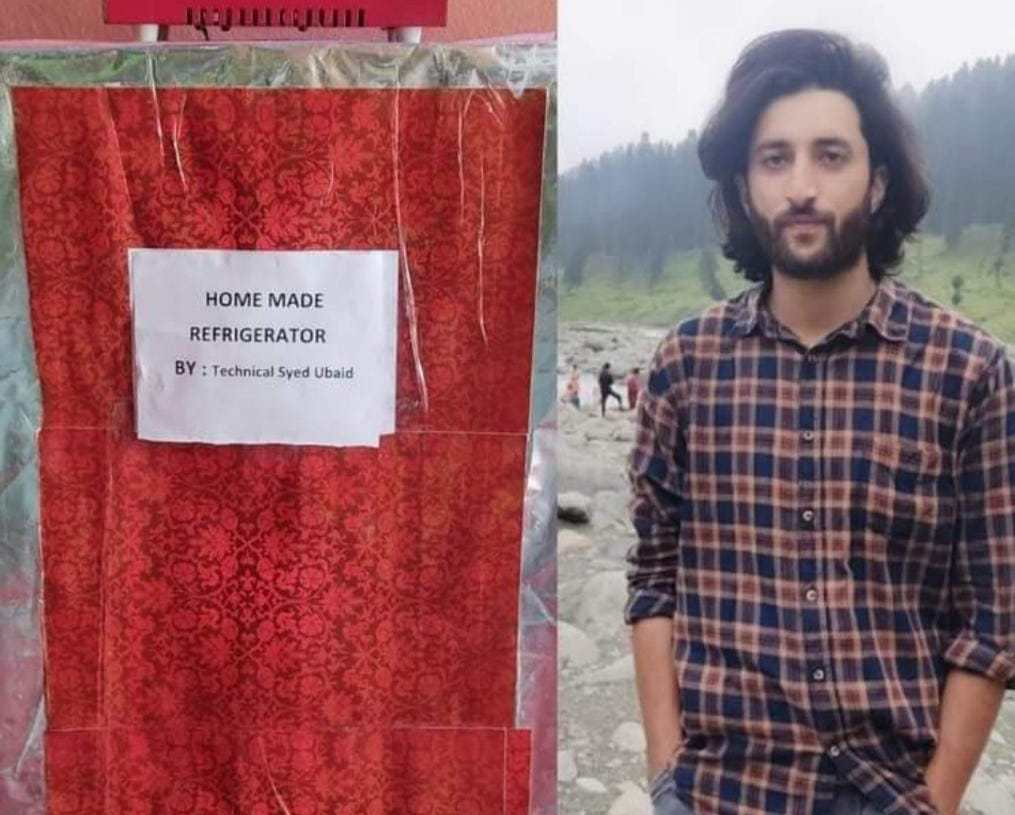 Pride of kashmir | 21-years-old Syed Ubiad Bashir, a son of tailor, and an engineer who transforms a Simple Storage trunk into fully working refrigerator