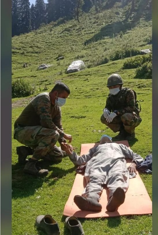 Timely Assistance Saved Life of Elderly Person at Satharban in District Poonch