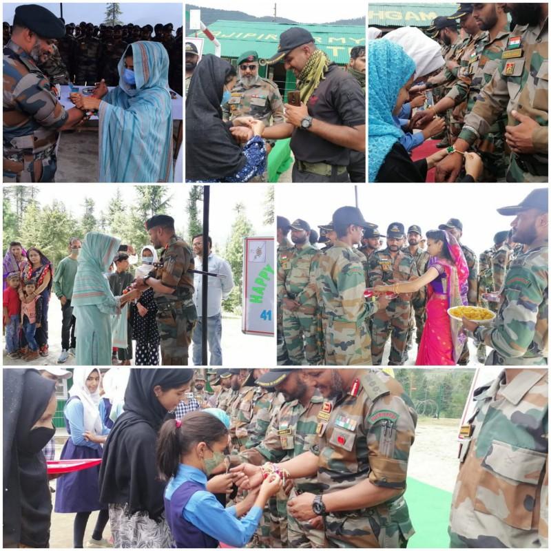 Kupwara celebrates Rakshabandhan with Army