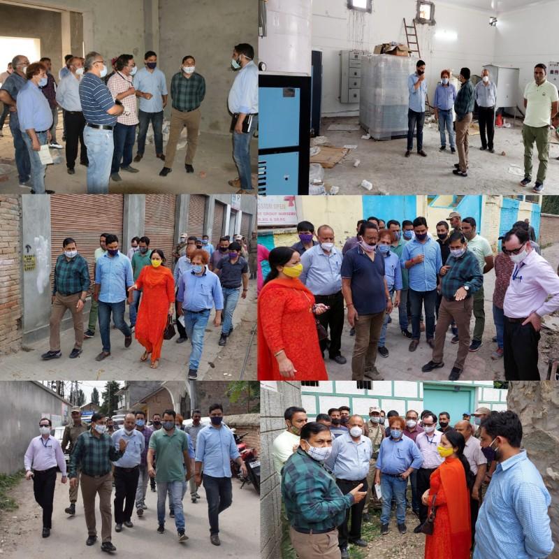 DC Kishtwar inspects the civil works at Municipality Kishtwar and adjoining areas.