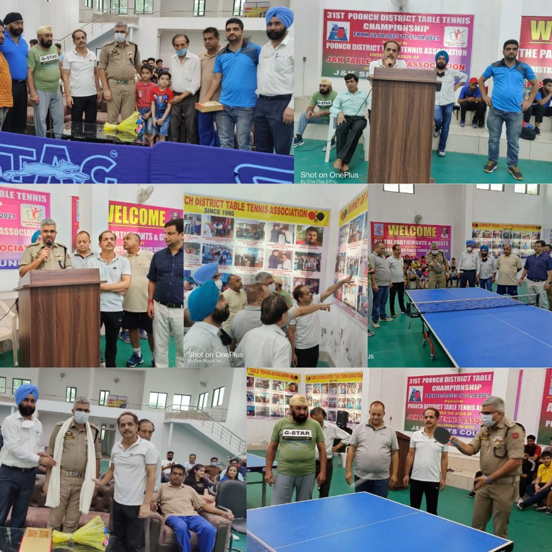 31st Poonch District Table-Tennis championship commenced at Sports Stadium Poonch