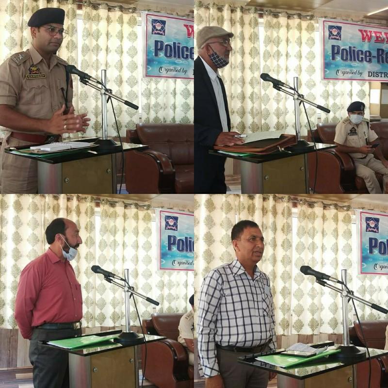 SP Handwara held a meeting with retired police officers at DPL Handwara