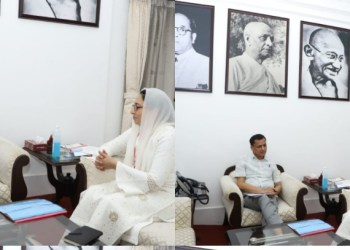 Dr Darakhshan Andrabi meets MoS Home Nityanand Rai at New Delhi Discussions on Law & Order situation in J&K