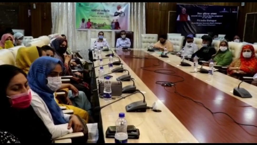 PRI members, Self Help Groups of Srinagar under DAY-NRLMScheme interact with Prime Minister
