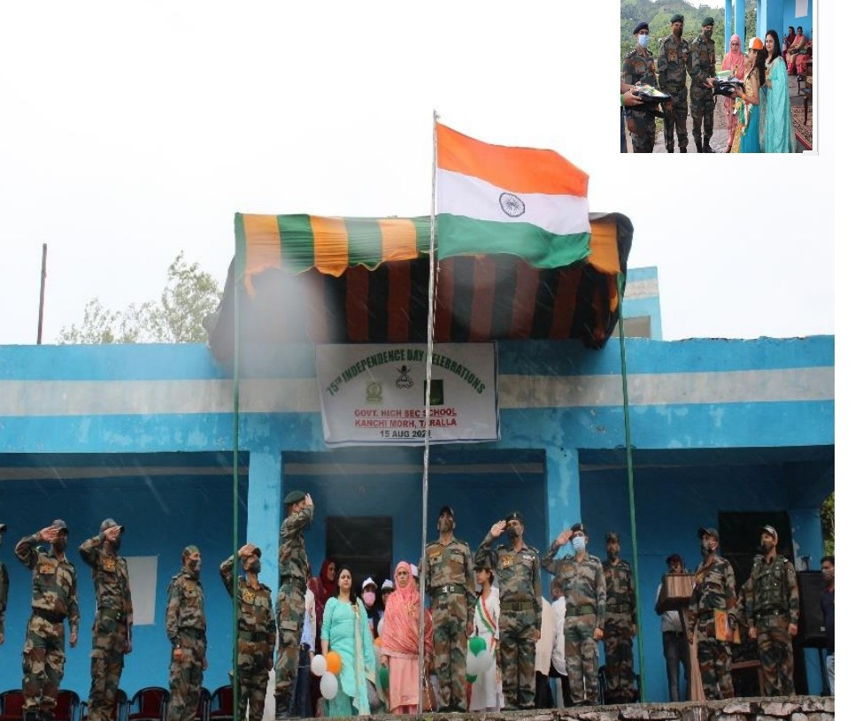 75th Independence Day Celebrations at Government Higher SECONDARY school, Kanchi Morh, Taralla
