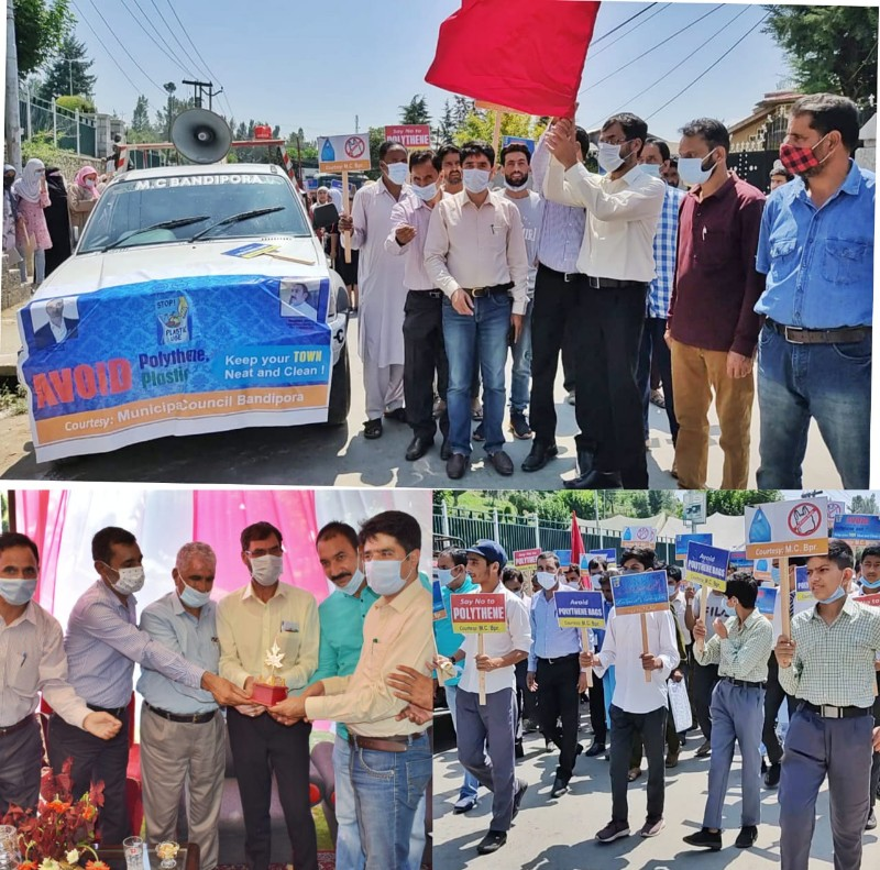 Municipal Council Bandipora launches mega anti-Polythene drive in Bandipora