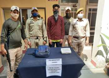 Police arrested a militant affiliated with The Resistance Front (TRF) in Jammu