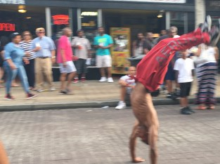 Amazing gymnast on Beale Street