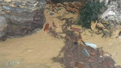 Photo of 200 coffins, corpses, church buildings washed into sea by Italy landslide