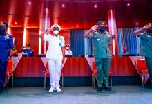 Photo of 'Nigeria will have peace again,' service chiefs promise Buhari