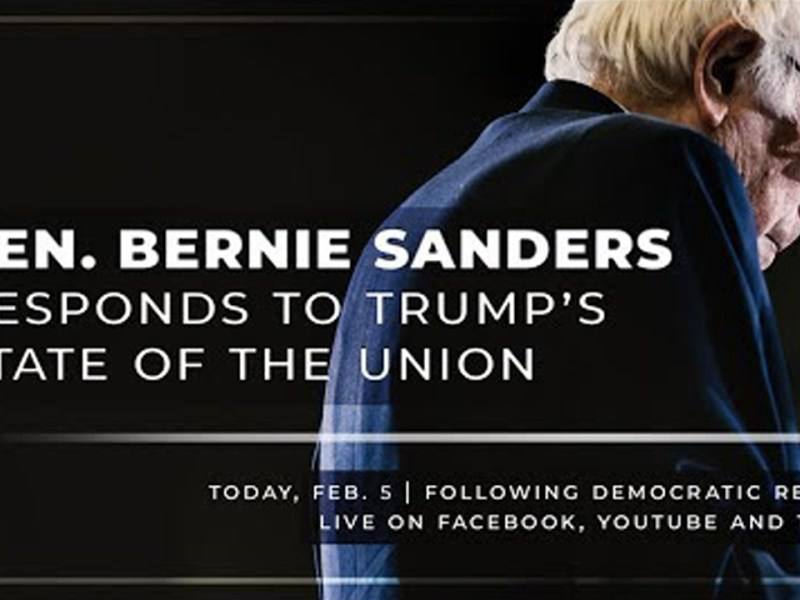 Sen. Bernie Sanders Responds to the State of the Union