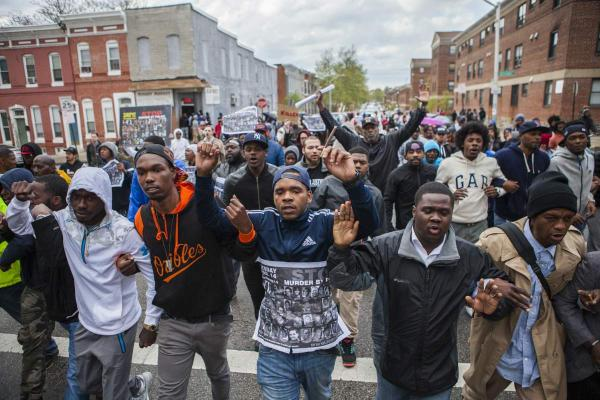 Baltimore Uprising Marching