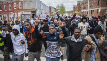 Baltimore Uprising Marching