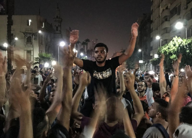 Protesters in Egypt