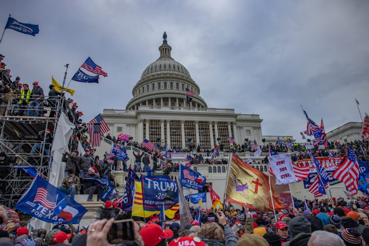 Supporters of President Trump storm the United States Capitol building