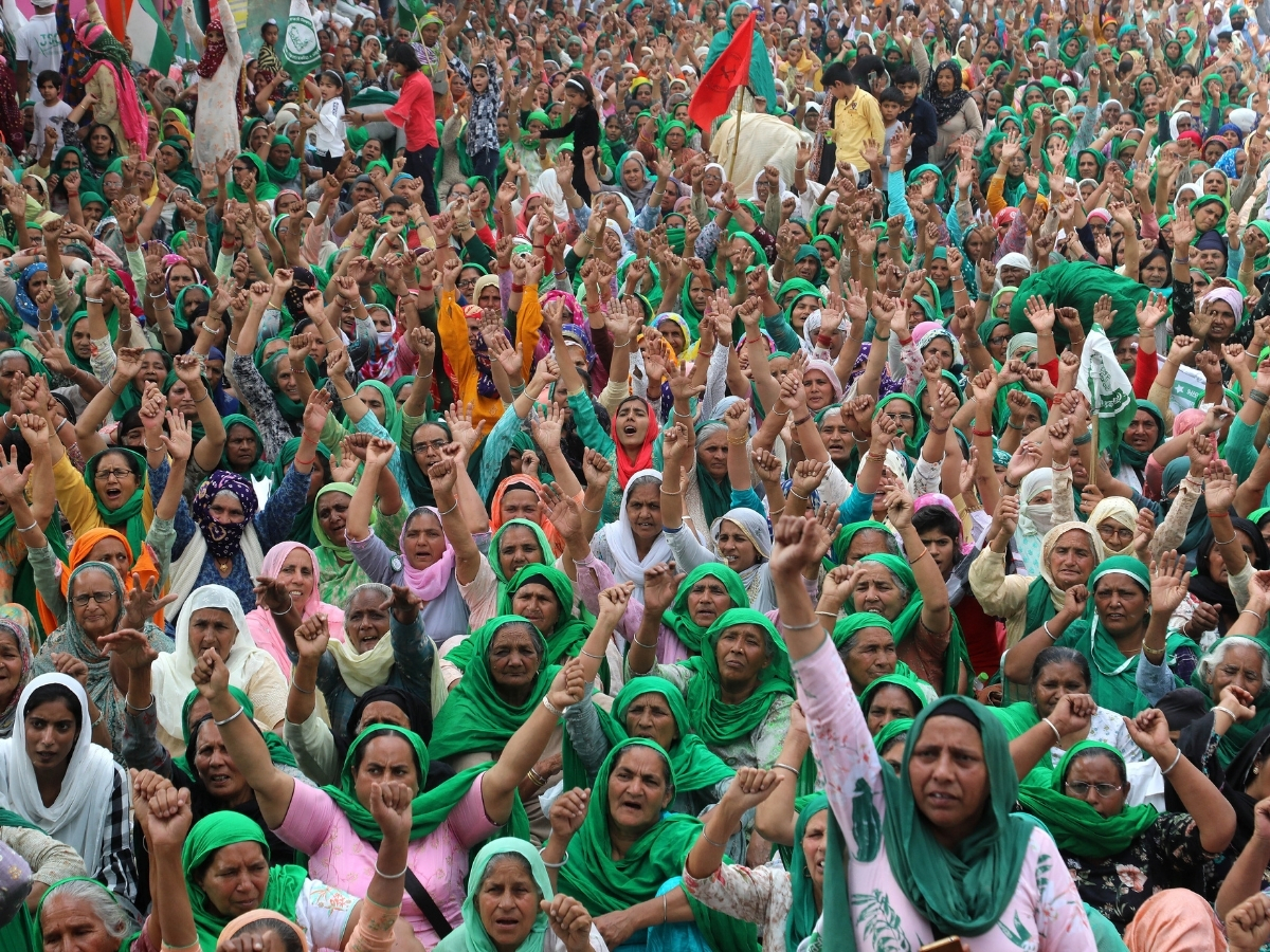 Indian women farmers from Haryana and Punjab