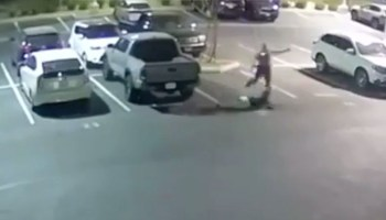 San Bernardino County police officer allegedly assaulting a suspect