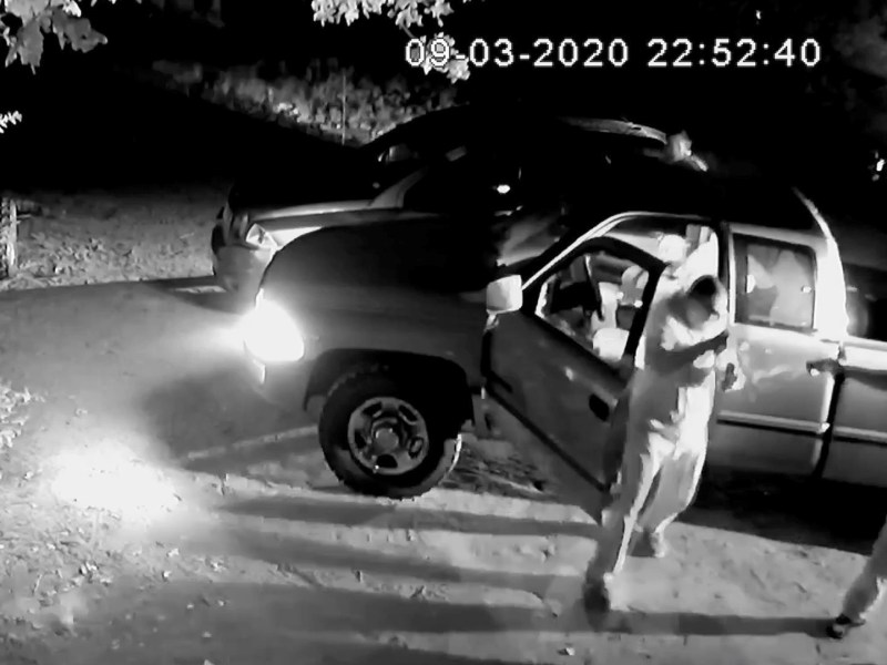 Surveillance video footage of the arrest of Nelson Williams