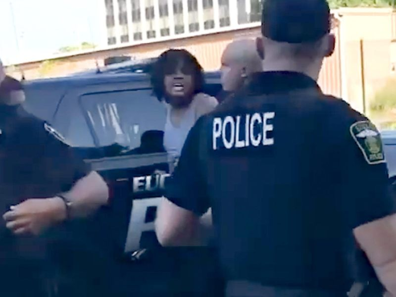 Still from an arrest in Euclid, Ohio