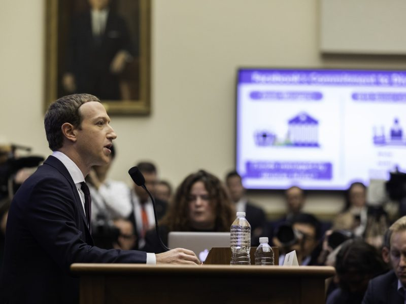 Facebook CEO Mark Zuckerberg testified before the House Financial Services Committee