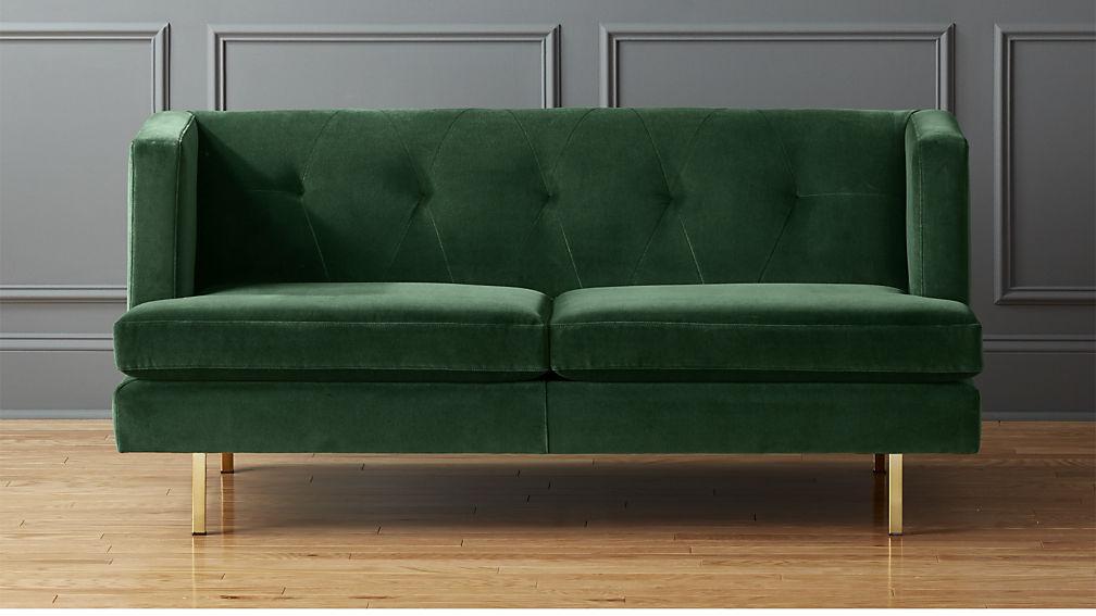 emerald velvet couch