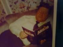 Dad with the Annie songbook: NYC 1977
