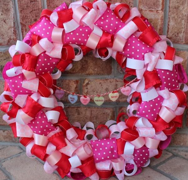Valentine' Day Ribbon Wreath - Dimple Prints