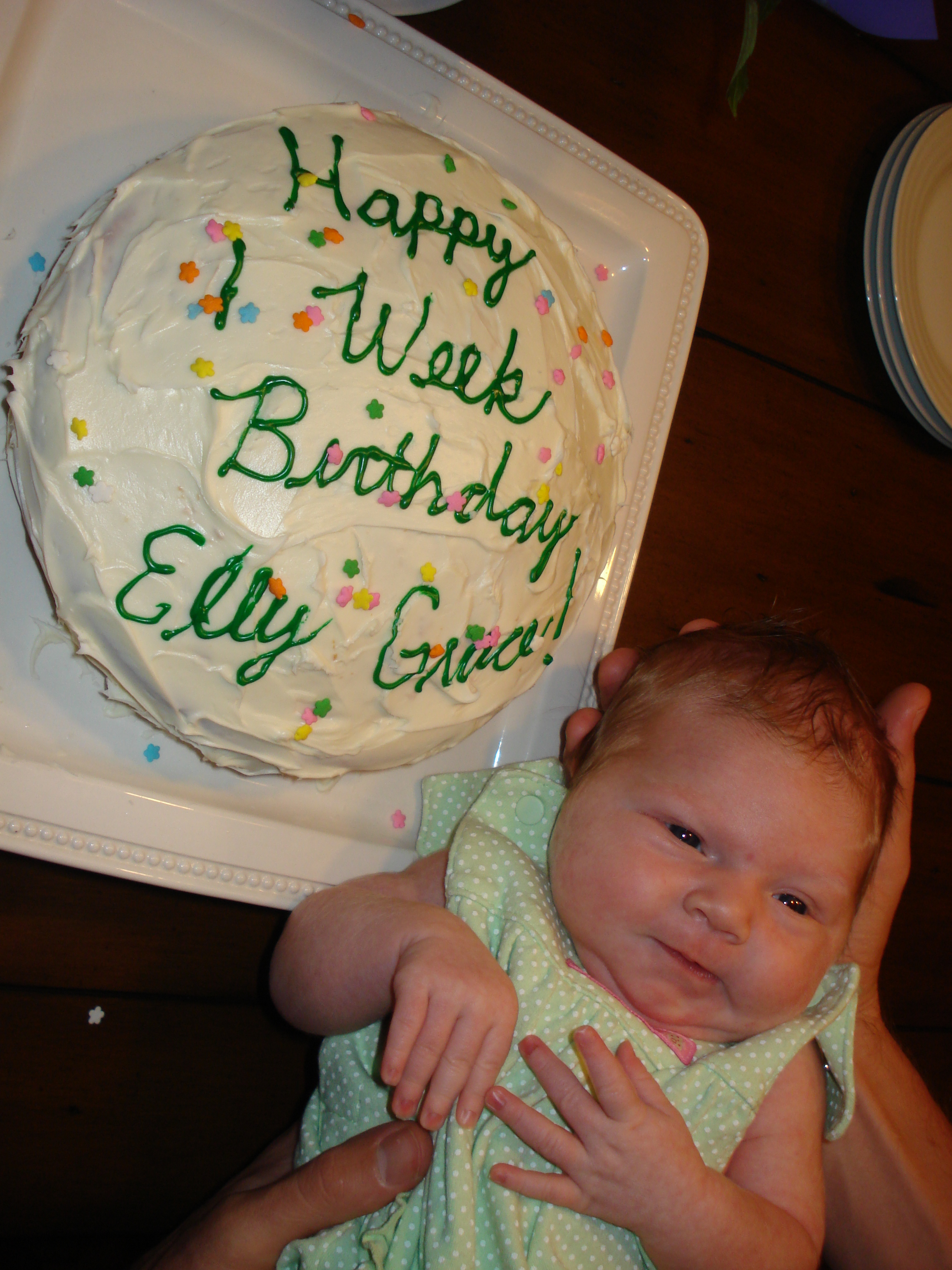 Elly S Studio Cake Design Chilliwack : Happy 1 Week Birthday, Elly G! The Real World: Wilmington