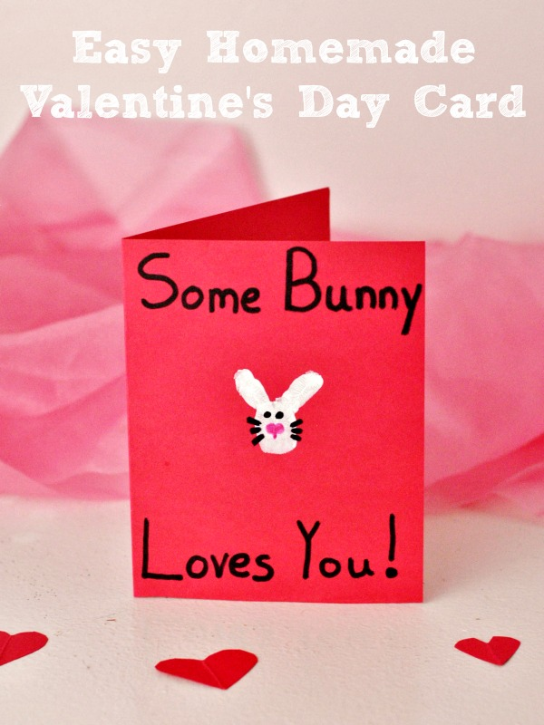 Easy Homemade Some Bunny Love You Valentines Day Card