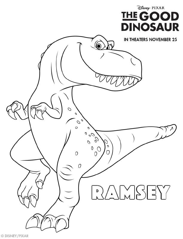 Disney Pixar's The Good Dinosaur Free Printable Activity