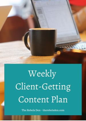 Weekly Client-Getting Content Planner