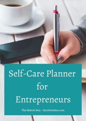 Self-Care Planner for Entrepreneurs