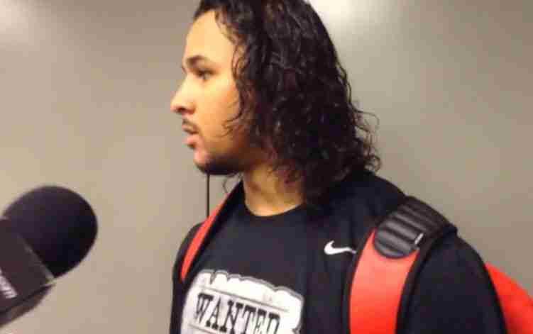 Cody Prewitt talks with media after win over A&M